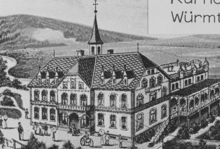 S1-7-3-Kurhotel-03-r-Blck-v-Wuermtalstr-z-Kurhotel-Wuerm-Foto-ca-1905-Zeichnung-Unbek-1030x675-1030x675
